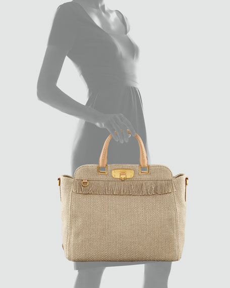 Woven Canvas Tote Bag