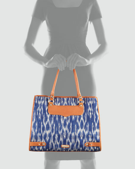 Diamond Ikat Tote Bag