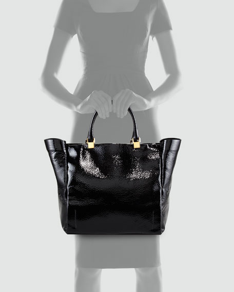 Patent Leather Moon River Tote Bag