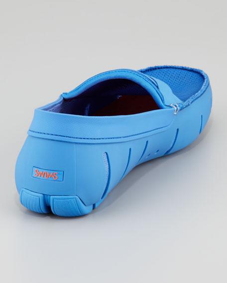Braided Rubber/Mesh Penny Loafer, Regatta Blue