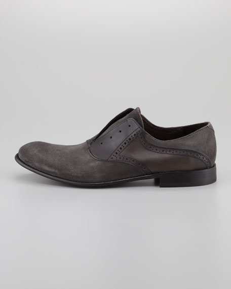 Sid Buck Laceless Saddle Shoe, Gray