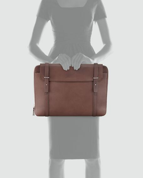 Leather Zip Portfolio Case