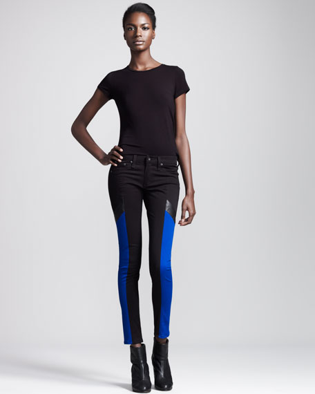 Grand Prix Paneled Leggings, Royal