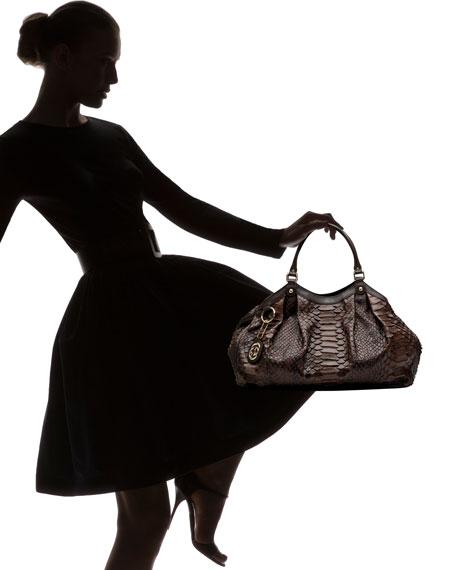 Sukey Python Shoulder Bag