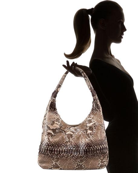 Glazed Python Grande Shoulder Bag