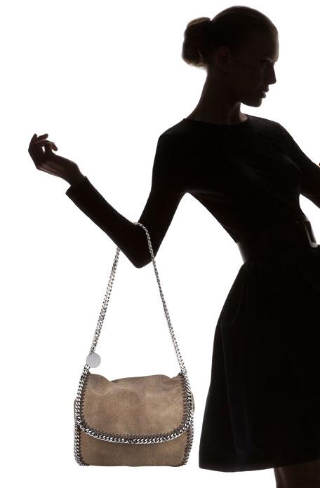 Flap-Front Shoulder Bag