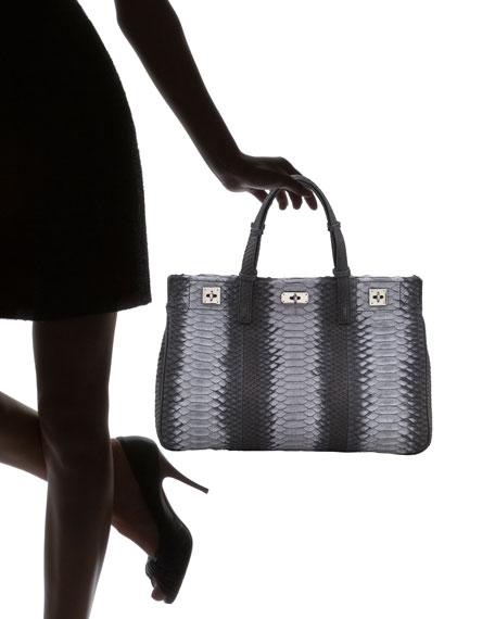 Python Turn-Lock Satchel Bag