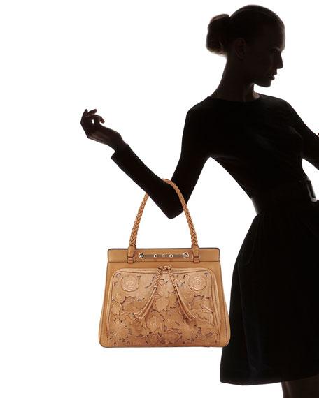 Demetra Leather-Lace Bag