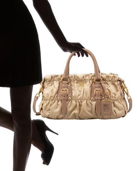 prada bl0644 multi-color floral silk shoulder bag