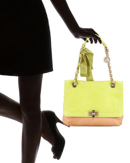 Colorblock Happy Shoulder Bag, Brown/Green