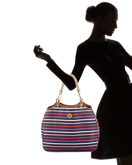 Channing Striped Tote