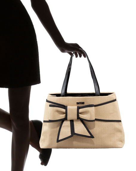 rumor straw bow tote