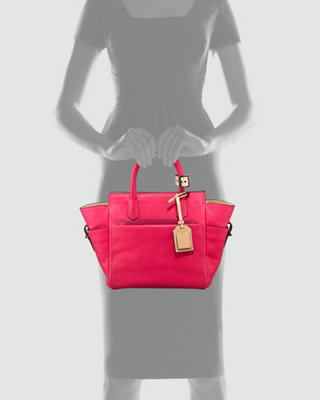 Mini Atlantique Tote Bag, Solar or Acid Pink