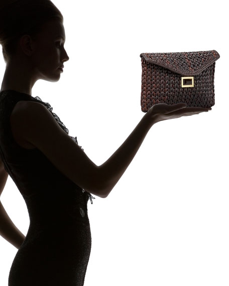 Prunella Wicker Clutch