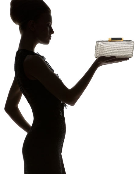 Tonda Perforated Leather Clutch