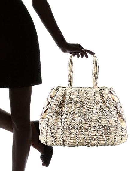 Woven Crocodile/Python Tote Bag