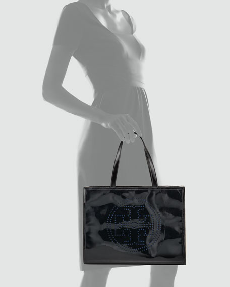 Perforated Logo Tote Bag, Small
