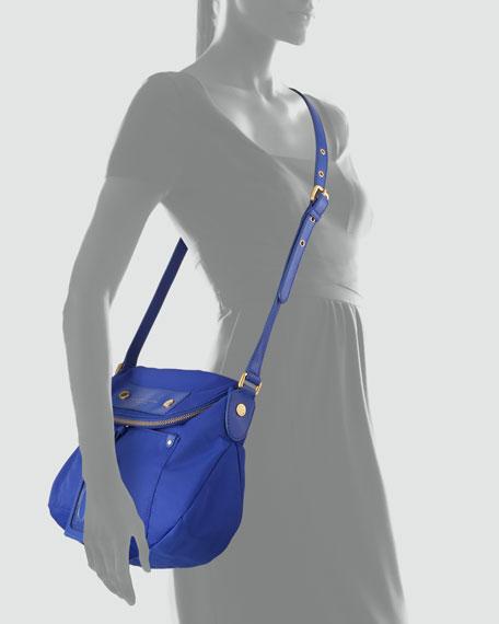 Preppy Nylon Natasha Crossbody Bag, Meteorite Blue