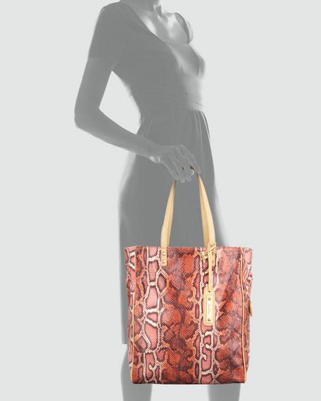 Amelie Signature Python-Print Tote Bag