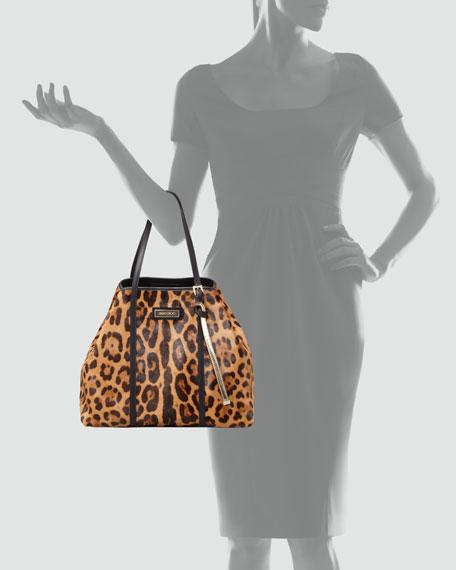 Sasha Leopard-Print Tote Bag