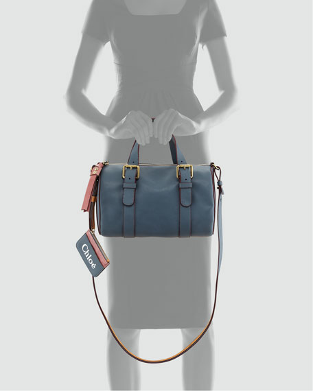 Faux-Leather Bowler Bag