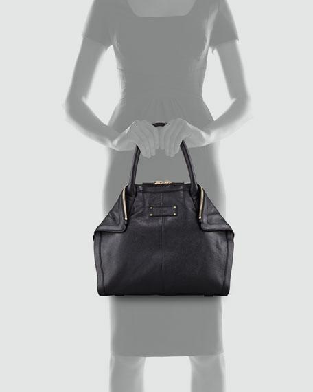 Leather De-Manta Tote Bag, Mini