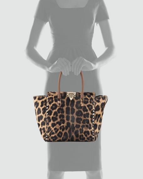 Rockstud Calf Hair New Tote Bag