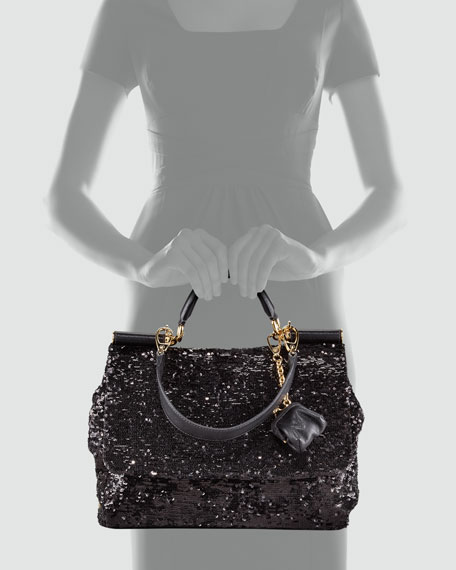 Soft Miss Sicily Sequined Satchel Bag