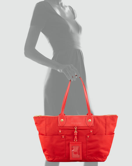 Preppy Nylon East-West Tote Bag