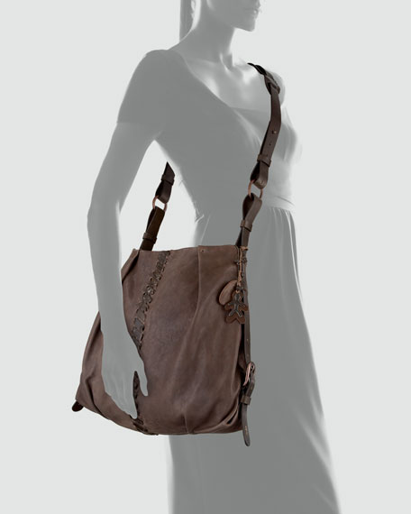 Woven-Detailed Crossbody Bag