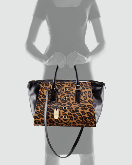 Harper Calf Hair Tote Bag