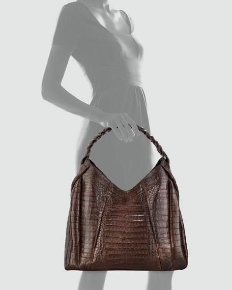 Braid-Strap Hobo Bag