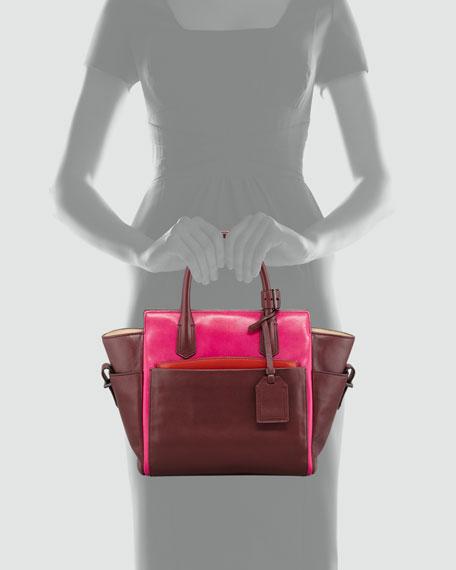 Atlantique Mini Tote Bag, Crimson