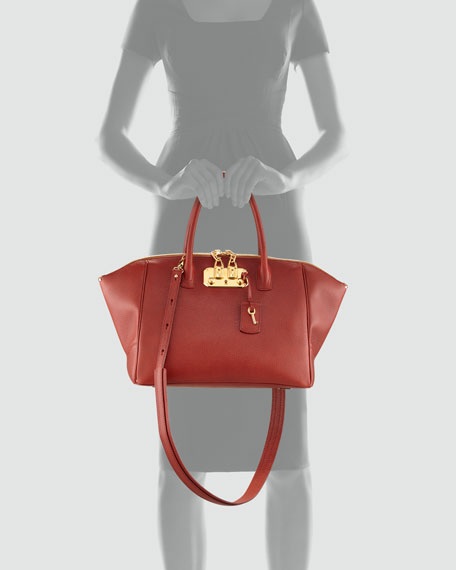 Brera Satchel Bag, Brick