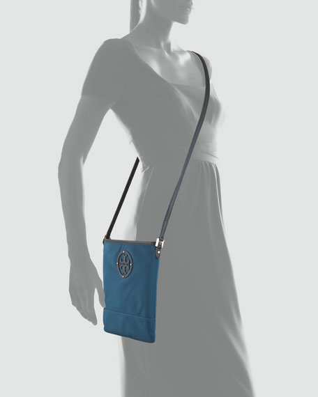 Stacked Logo Swingpack Bag, Winter Teal