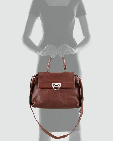 Sofia Satchel Bag, Tan