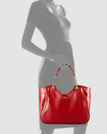 Betulla Medium Tote Bag, Red