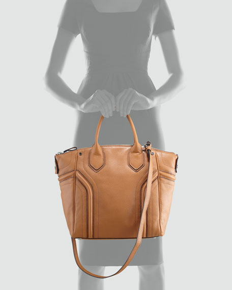 Zoey Leather Tote Bag, Luggage