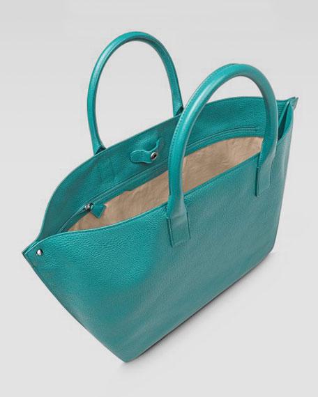 Ai Cervo Medium Leather Messenger Bag, Caribbean