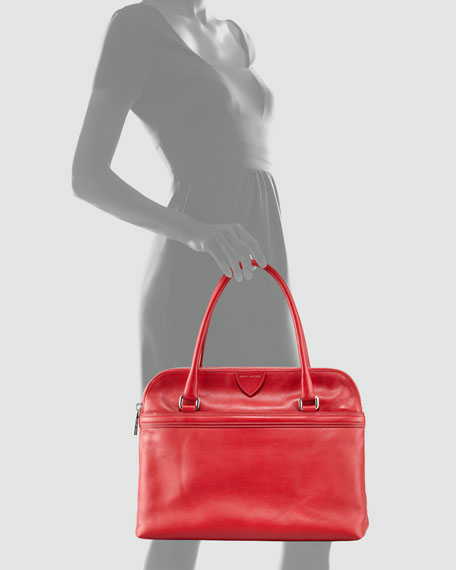 Raleigh Leather Tote Bag, Red