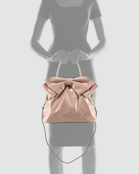 Lucca Dome Bow Bag, Tan