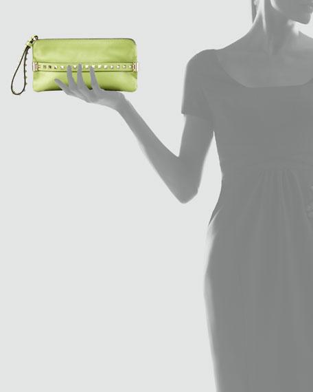 Rockstud Wristlet Clutch Bag, Pop Apple