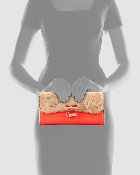 Riviera Patent Leather & Cork Clutch Bag