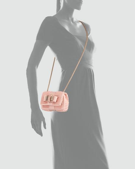 Sweet Charity Mini Spiked Shoulder Bag, Pink