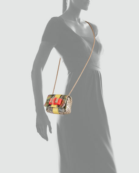 Sweet Charity Python Bow Clutch Bag