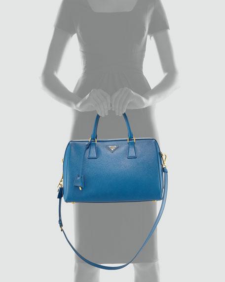 Saffiano Medium Satchel Bag, Cobalto