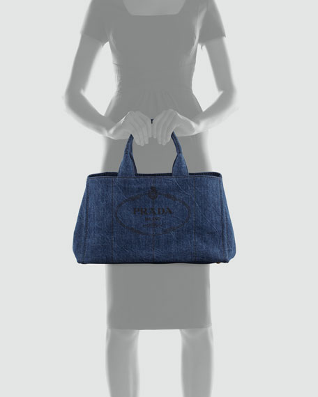 Denim Small Gardener's Tote Bag, Blue