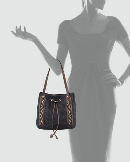 Squishee Drawstring Bag, Black