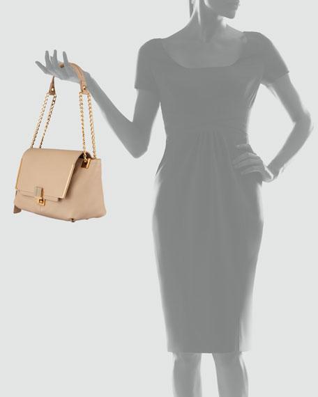 New Partition Large Leather Shoulder Bag