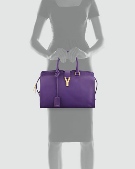 Y Ligne Medium Soft Leather Bag, Amethyst